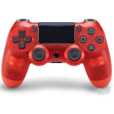 Геймпад для PS4 PlayStation DualShock 4 v2 Прозрачный красный Crystal red купить с доставкой по всей России