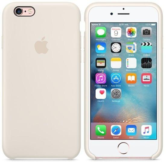 Силиконовые чехлы для Apple iPhone 6/6S Silicone Case (antique white, слоновая кость)