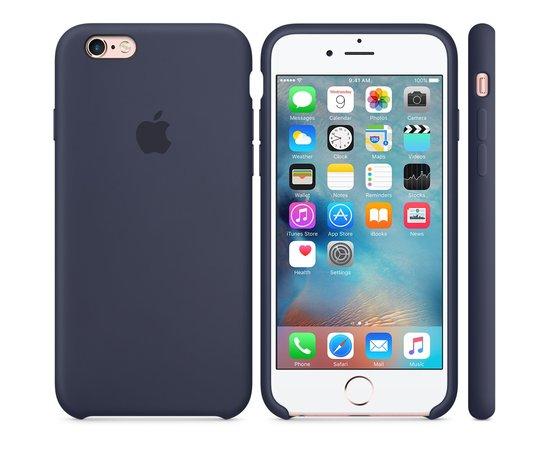Силиконовые чехлы для Apple iPhone 6/6S Silicone Case (midnight blue, темно-синий)