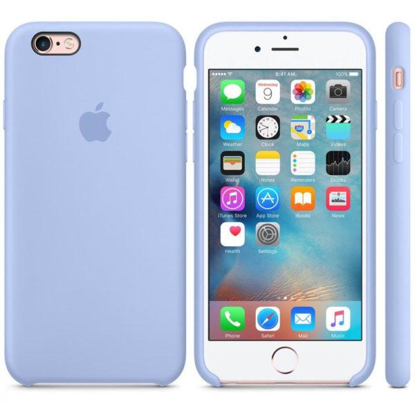 Силиконовые чехлы для Apple iPhone 6/6S Silicone Case (lilac, сиреневый)