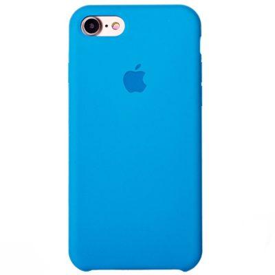 Силиконовые чехлы для Apple iPhone 7/8 Silicone Case (blue, голубой)