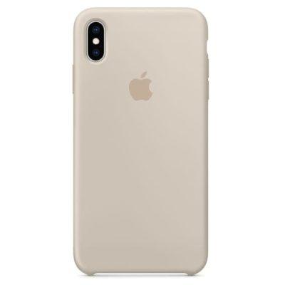 Силиконовые чехлы для Apple iPhone X/XS Silicone Case (stone, бежевый)