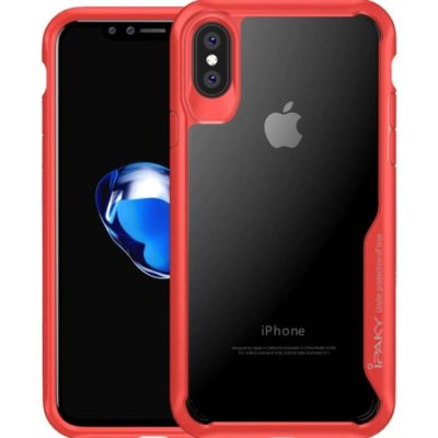 Чехлы для смартфона Apple iPhone X/XS iPaky Прозрачный с красной рамкой