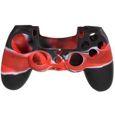 Силиконовый чехол для геймпада DualShock 4 черно-красный
