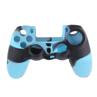 Силиконовый чехол для геймпада DualShock 4 черно-синий