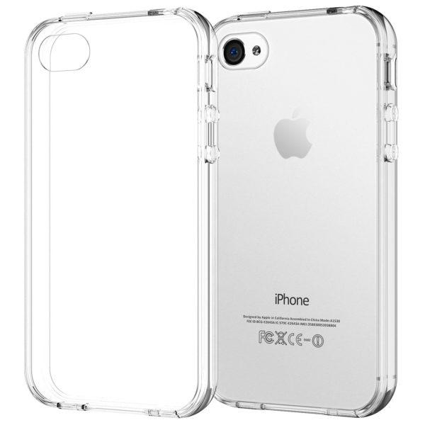 Силиконовый чехол для Apple iPhone 4S прозрачный