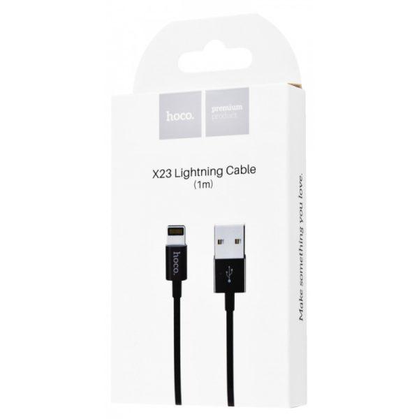 Зарядный провод Hoco X23 Lightning Cable 1m