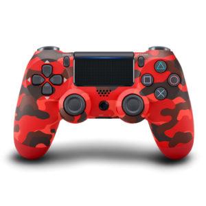 Геймпад для PS4 PlayStation DualShock 4 v2 Красный камуфляж Camouflage red купить с доставкой по всей России