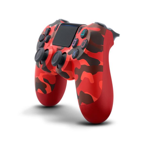 Геймпад для консоли PS4 PlayStation DualShock 4 v2 Красный камуфляж (Camouflage red)