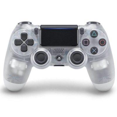 Геймпад для консоли PS4 PlayStation DualShock 4 v2 Прозрачный (Crystal)