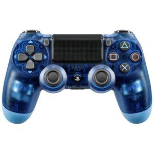 Геймпад для консоли PS4 PlayStation DualShock 4 v2 Прозрачный синий (Crystal blue)