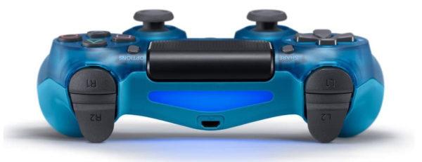 Геймпад для PS4 PlayStation DualShock 4 v2 Прозрачный синий Crystal blue купить с доставкой по всей России