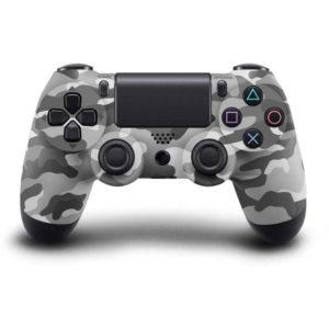 Геймпад для PS4 PlayStation DualShock 4 v2 Серый камуфляж Camouflage gray купить с доставкой по всей России