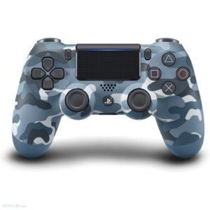 Геймпад для консоли PS4 PlayStation DualShock 4 v2 Синий камуфляж (Camouflage blue)