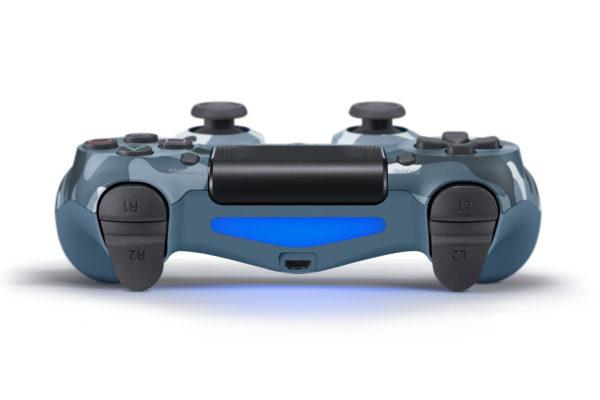 Геймпад для PS4 PlayStation DualShock 4 v2 Синий камуфляж Camouflage blue купить с доставкой по все России