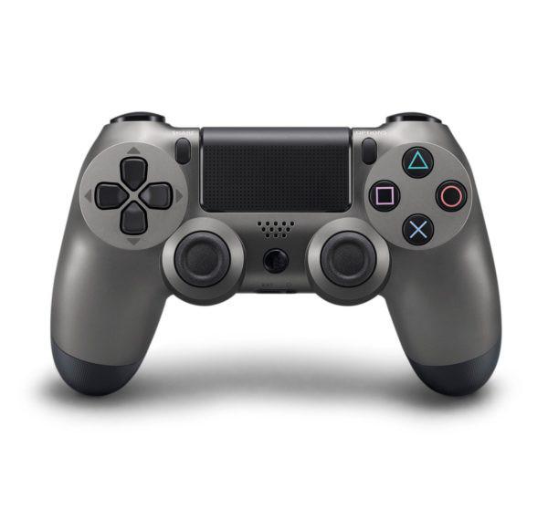 Геймпад для PS4 PlayStation DualShock 4 v2 Черный стальной Steel black купить с доставкой по всей России