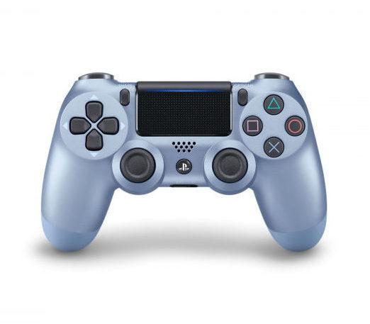 Геймпад для консоли PS4 PlayStation DualShock 4 v2 Титановый синий (Titanium blue)