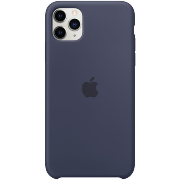 Apple чехол для iPhone 11 Pro Silicone Case (midnight blue, темно-синий)