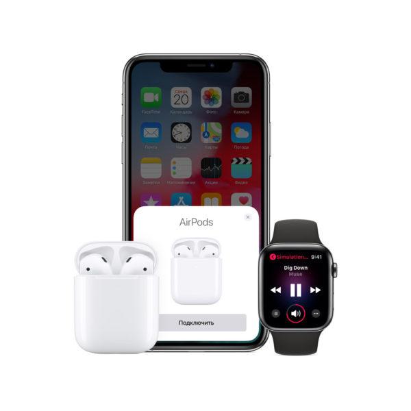 Apple Наушники AirPods в зарядном футляре