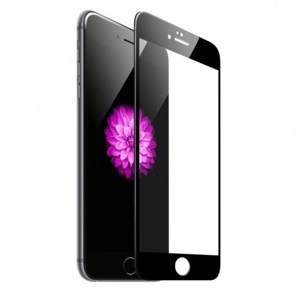 Защитное стекло 10D для Apple iPhone 7/8 Plus с рамкой (черное)