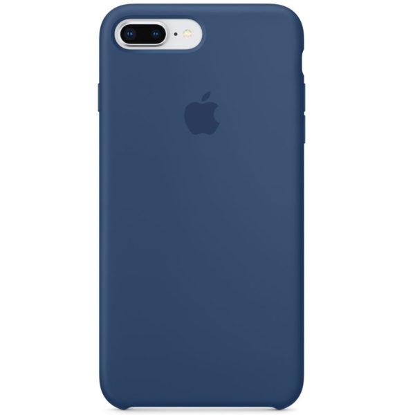 Apple чехол для iPhone 7/8 Plus Silicone Case (blue cobalt, синий)