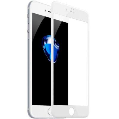 Защитное стекло 10D для Apple iPhone 7/8 Plus с рамкой (белое)