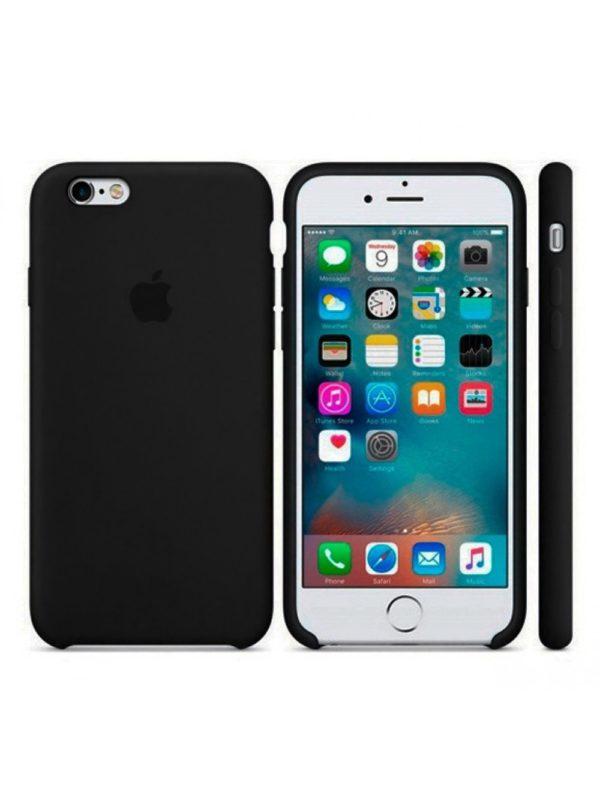Apple чехол для iPhone 6/6S Silicone Case (black, черный)