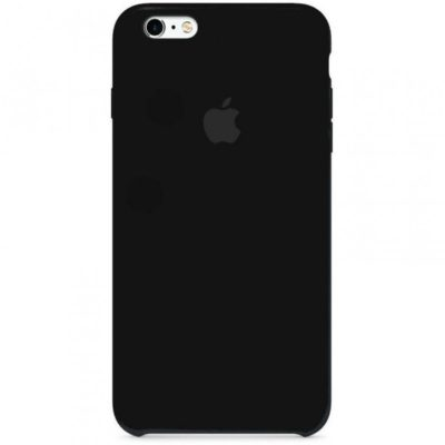 Apple чехол для iPhone 6/6S Silicone Case (black, черный)