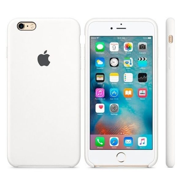 Apple чехол для iPhone 6/6S Silicone Case (white, белый)