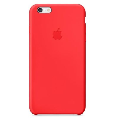 Apple чехол для iPhone 6/6S Silicone Case (red, красный)