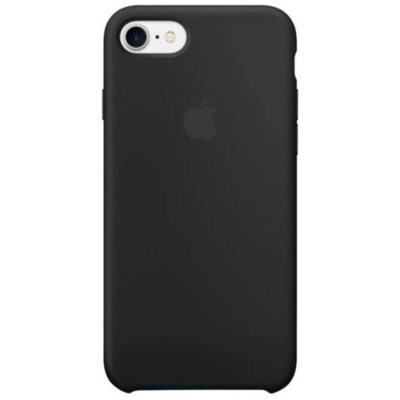 Apple чехол для iPhone 7/8 Silicone Case (black, черный)