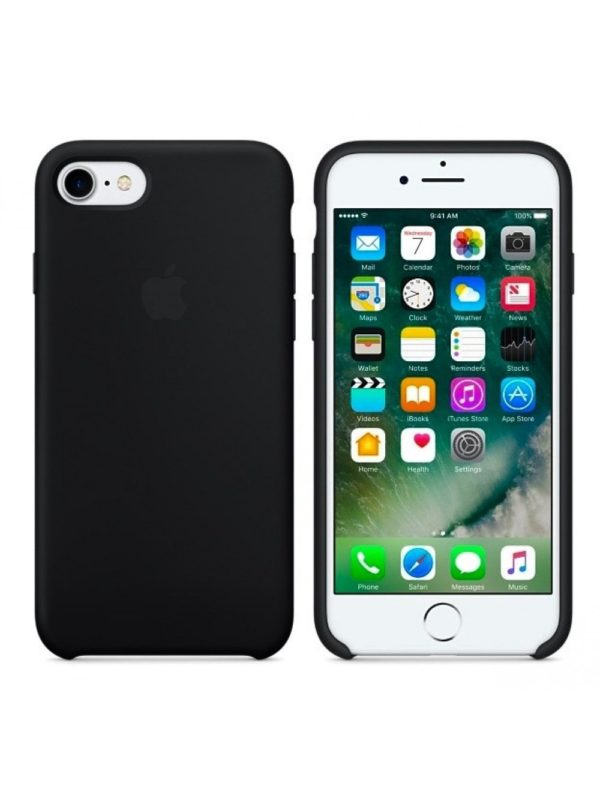 Apple чехол для iPhone 7/8 Silicone Case (black, черный)