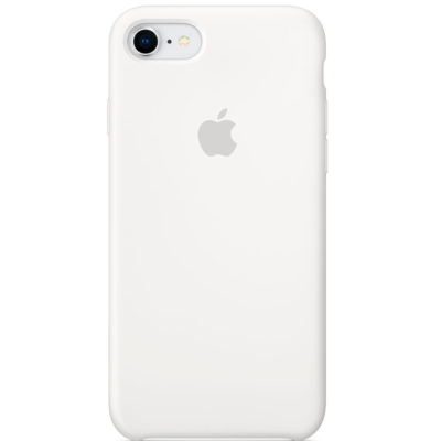 Apple чехол для iPhone 7/8 Silicone Case (white, белый)