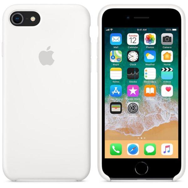 Apple чехол для iPhone 7/8 Silicone Case (white, белый)
