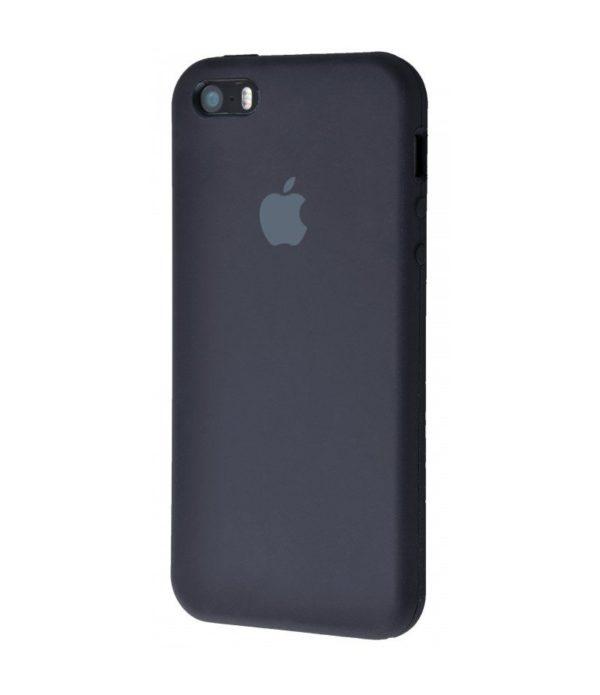 Apple чехол для смартфона iPhone 5/5S/SE Silicone Case (black, черный)