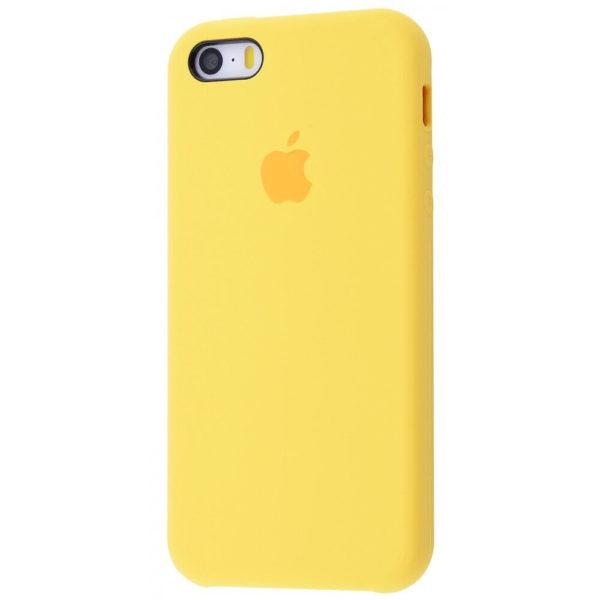 Apple чехол для смартфона iPhone 5/5S/SE Silicone Case (yellow, желтый)