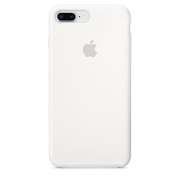 Apple чехол для iPhone 7/8 Plus Silicone Case (white, белый)