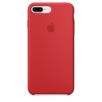 Apple чехол для iPhone 7/8 Plus Silicone Case (red, красный)