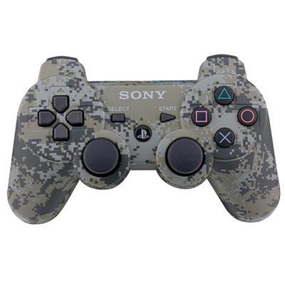 Геймпад для консоли PS3 PlayStation DualShock 3 Серый пиксель (Camouflage)