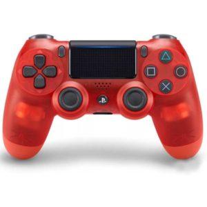 Геймпад для консоли PS4 PlayStation DualShock 4 v2 Прозрачный красный (Crystal red)