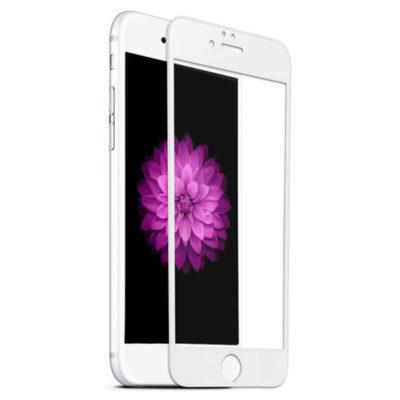 Защитное закаленное стекло для Apple iPhone 6/6S с рамкой (белое)