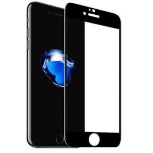 Защитное закаленное стекло для Apple iPhone 7/8 с рамкой (черное)
