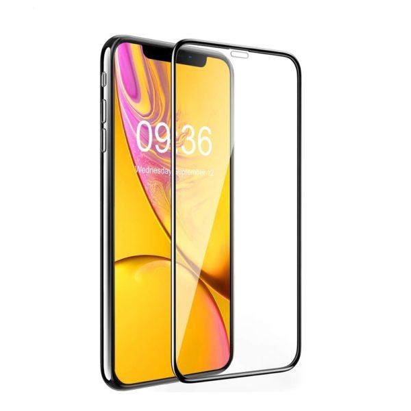 Защитное стекло 10D для Apple iPhone XR с рамкой (черное)