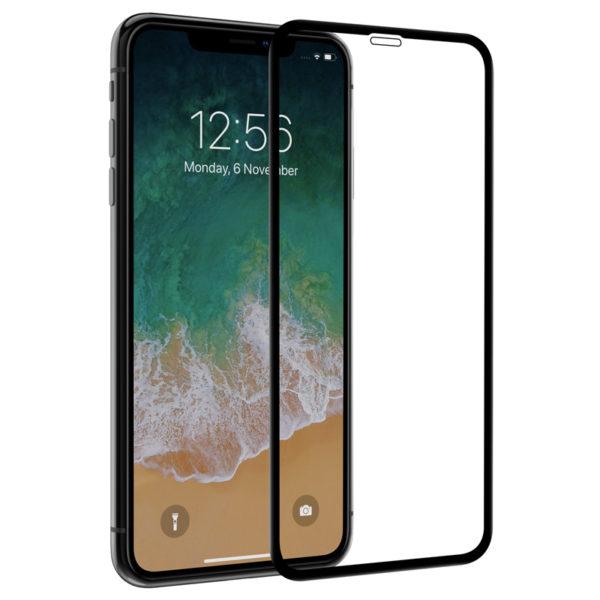 Защитное стекло 10D для Apple iPhone X/XS/11 Pro с рамкой (черное)