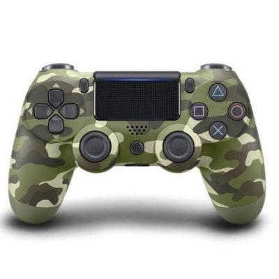 Геймпад для PS4 PlayStation DualShock 4 v2 Зеленый камуфляж Camouflage green купить с доставкой по всей России