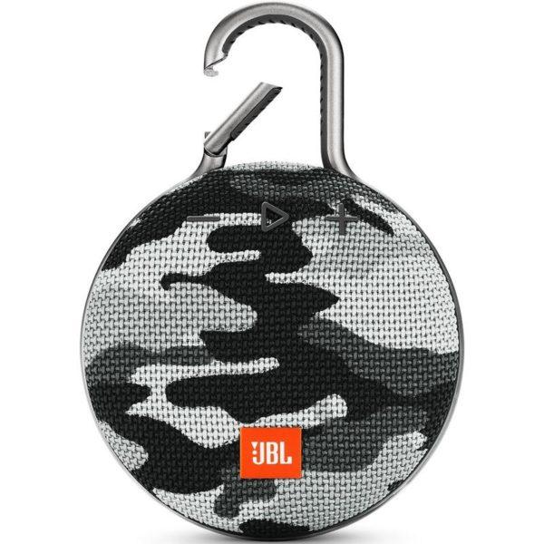 Портативная колонка JBL Clip 3 Gray camouflage (Серый камуфляж)