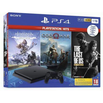 Игровая приставка PlayStation 4 Black 1 TB + 3 игры