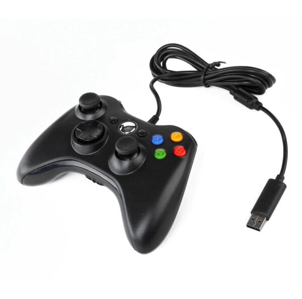 Геймпад для консоли Microsoft XBOX 360 проводной Black (черный)