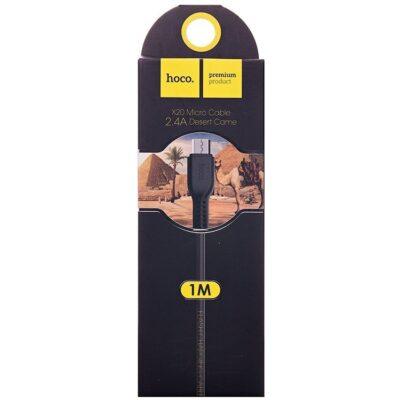 USB - Micro Hoco X20 2.4A 1m Desert camel зарядный провод Черный