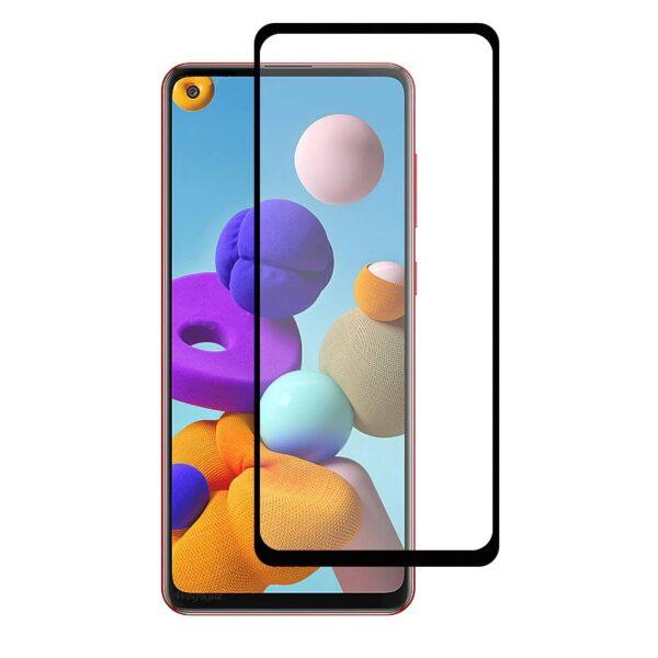 Защитное стекло 10D для Samsung Galaxy A21S c рамкой